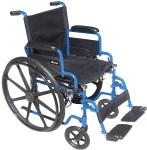 Blue Streak Flip-Back Arm Wheelchair by Drive