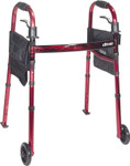"Deluxe Folding Travel Walker 5"" Wheels 10263KDR by Drive"