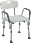 Bath Chair with Back & Removable Arms 12445 by Drive