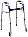 "Deluxe Folding Walker, 5"" Wheels Trigger Release 10226 by Drive"
