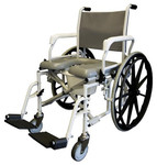 Tuffcare Shower Commode Wheelchair w/ 24'' Wheels S970