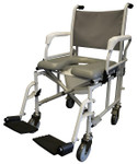 "Transport Commode Shower Chair 6"" Casters S900 by Tuffcare"