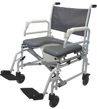 Tuffcare S950 Heavy Duty Shower Commode Chair 6 Casters