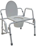 Extra Wide Drop-Arm Commode Chair M470 by Tuffcare