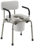 Nova Drop-Arm Padded Commode 8901W