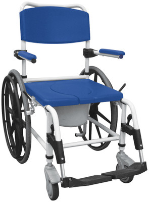 Drive Aluminum Rehab Shower Commode Chair 24u0027u0027 Wheels NRS185006