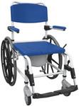 Drive Aluminum Rehab Commode Shower Chair 24'' Wheels NRS185006