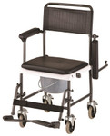 Drop Arm Commode Transport Chair w/ Wheels 8805 by NOVA
