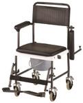 Drop Arm Commode Transport Chair w/ Wheels 8805 by NOVA