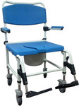 Bariatric Rehab Shower Commode Chair 5'' Casters NRS185008