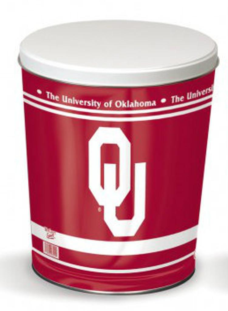 Oklahoma Sooners 3 Gallon Tin