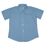 Blue Short Sleeve Dress Shirt