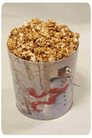 Birch Snowman 1 Gallon Holiday Gift Tin