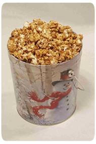 Birch Snowman 1 Gallon Holiday Gift Tin