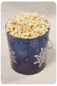 Silver Snowflake 1 Gallon Holiday Gift Tin