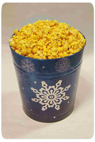 Silver Snowflake 6 Gallon Holiday Gift Tin