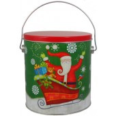 Sparkly Santa Holiday Gift Tin - 1 Gallon