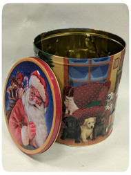 Kittens and Puppies Holiday Gift Tin - 3.5 Gallon