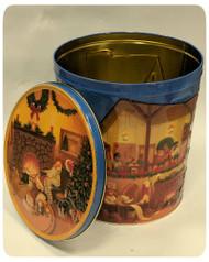 Santa's Workshop Holiday Gift Tin - 3.5 Gallon