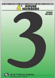 """6"""" Blk Plas Number 3"""