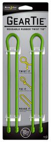 """2pk 18"""" Lime Gear Tie"""