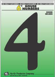"""6"""" Blk Plas Number 4"""