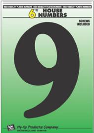 """6"""" Blk Plas Number 9"""