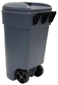 50gal Gry Trash Can