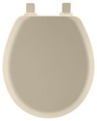 Bone Rnd Wd Toilet Seat
