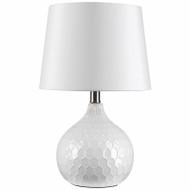 """17.5"""" Wht Ceramic Lamp"""