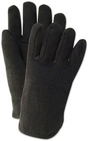 2pk Brn Jersey Glove
