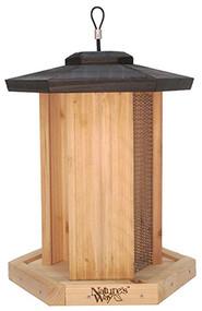 Cedar Tpl Bird Feeder