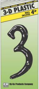 """4"""" Blk Plas Number 3"""