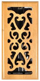 4x10 Oak Scrol Register