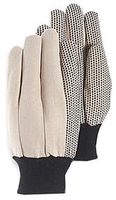 Lg Pvc Dot Canv Glove