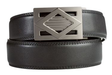 Del Mar Buckle in Gunmetal with Black Leather