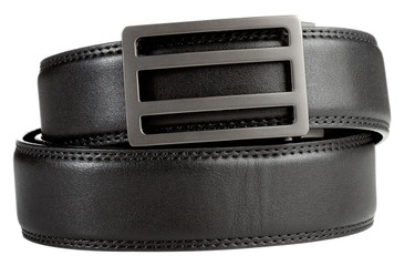 Newport Buckle in Gunmetal with Black Belt