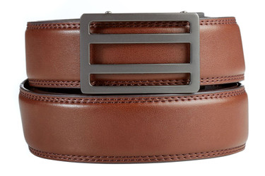 Newport Buckle in Gunmetal with Briown Belt