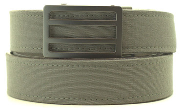 Newport Buckle in Gunmetal Finish with Charcoal Sports Casual Belt