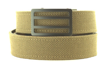 Newport Buckle in Gunmetal Finish with Dark Khaki Sports Casual Belt