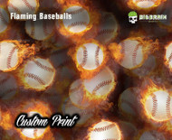 Flaming Fire Baseball Speed FastBall Custom Hydrographic Dip Film Hydrographics Dipping Big Brain Graphics Custom Film Printing Printer Sale
