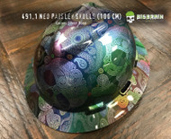 Neo Rainbow Paisley Sugar Skulls Chrome Hydrographic Film Pattern Big Brain Graphics Dip Film USA Trusted Seller Galaxy Silver Base on Hard hat