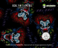Nightmare Creepy Clowns Crazy Cool Pattern Opaque Hydrographics Pattern Film Hydrographic Big Brain Graphics White Base Quarter Reference
