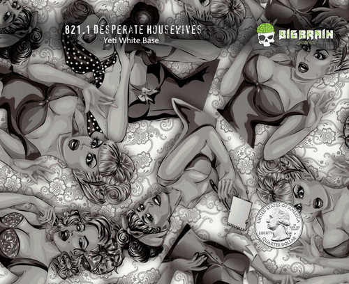 Desperate Housewives Naughty Girl Boy Sexy Ladies Women Woman Black Clear 100 CM Big Brain Graphics Hydrographics Dip Film Buy Supplies Trusted Supplier Nanochem Yeti White Base Quarter Reference