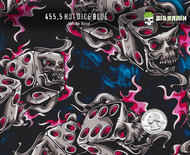Hot Dice Blue 455 Hydrographics Pattern Film Buy Dipping Big Brain Graphics Seller White Base Quarter Reference