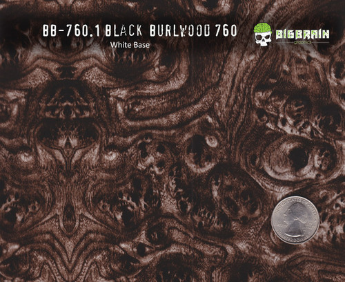 Black Burl Burlwood High Quality Vehicle Interior Hydrographics Film Big Brain Graphics Buy White Base Quarter