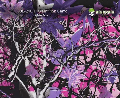 Glam Camo Glamour Camoflauge Muddy Pink Big Brain Graphics Hydrographics Pattern Film Seller