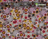 Sugar Skulls 100 CM Day of the Dead Popular Hydrographics Film Pattern Big Brain Graphics White Base Size Reference
