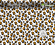 Leopard Cheetah Cat Animal Girly Woman Print Hydrographics Film White Base Pattern Big Brain Graphics Buy Quarter Reference
