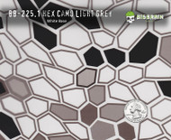 Hex Camo Grey Black Camo Design Method Big Brain Graphics Hydrographics Pattern With Quarter